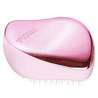 Компактний гребінець для волосся Tangle Teezer Compact Styler Baby Doll Pink Chrome (5060630046743), фото 1