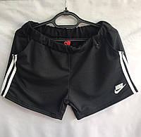 Женские трикотажные шорты Nike размер батал 52-60, цвета миксом, фото 1