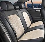 Чехлы 3D с алькантары Elegant Modena на передние и задние сидения автомобиля EL 700 134 бежевые, фото 7