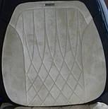 Чехлы 3D с алькантары Elegant Modena на передние и задние сидения автомобиля EL 700 134 бежевые, фото 8