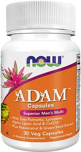 NOW Foods, ADAM, Superior Men's Multi - Мультикомплекс для мужчин, 30 вегетарианских капсул