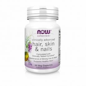 NOW Foods, Clinically Advanced Hair, Skin & Nails - Комплекс для волос, кожи и ногте, 30 вегетарианских капсул