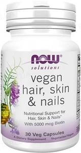 NOW Foods, Vegan Hair, Skin & Nails - Комплекс для волос, кожи и ногте, 30 вегетарианских капсул