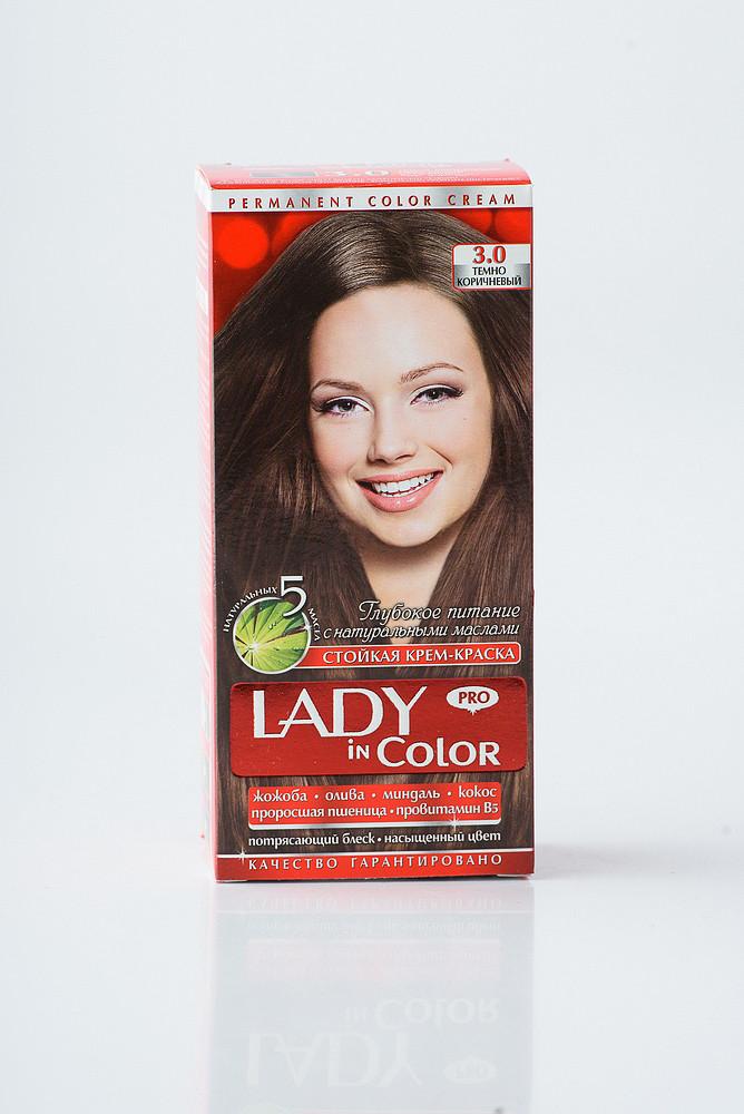 Lady in color фарба для волосся №3.0 Темно - коричнева