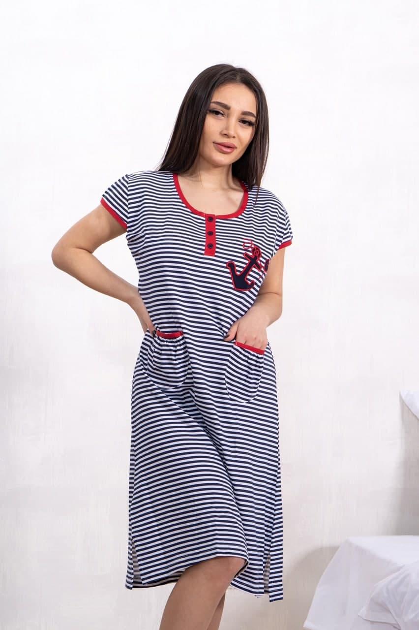 Платье домашнее (туника с коротким рукавом) Bella Secret хлопок Турция