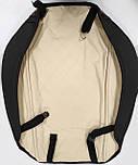 Чехлы 3D с алькантары Elegant Modena на передние и задние сидения автомобиля EL 700 136 черные, фото 4
