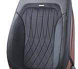 Чехлы 3D с алькантары Elegant Modena на передние и задние сидения автомобиля EL 700 136 черные, фото 5
