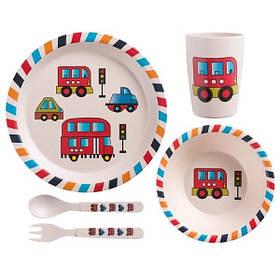 "Набір дитячого посуду з бамбука ""Автобус"" арт. 870-24383"