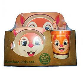 """Набір дитячого посуду з бамбука """"Білка"""" арт. 870-24368"""