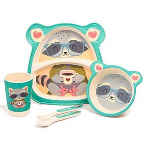 "Набір дитячого посуду з бамбука ""Єнот"" арт. 870-24386, фото 2"