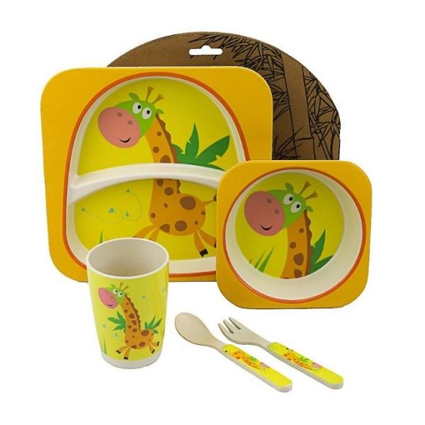 """Набір дитячого посуду з бамбука """"Жираф"""" арт. 870-24369"""