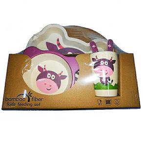 """Набір дитячого посуду з бамбука """"Корова"""" арт. 870-24387, фото 2"""