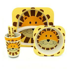 """Набір дитячого посуду з бамбука """"Лев"""" арт. 870-24377"""