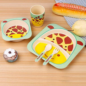"Набір дитячого посуду з бамбука ""Панда"" арт. 870-24380, фото 2"