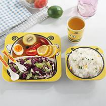 """Набор детской посуды из бамбука """"Пингвин"""" арт. 870-24374, фото 2"""