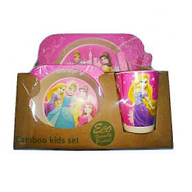 """Набір дитячого посуду з бамбука """"Принцеси"""" арт. 870-24361"""