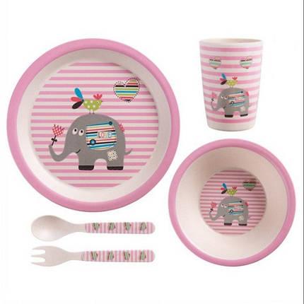 """Набір дитячого посуду з бамбука """"Слон"""" арт. 870-24382, фото 2"""