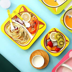 """Набор детской посуды из бамбука """"Сова"""" арт. 870-24375, фото 2"""