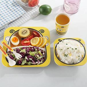 """Набор детской посуды из бамбука """"Телёнок"""" арт. 870-24376, фото 2"""