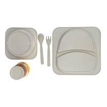 """Набір дитячого посуду з бамбука """"Теля"""" арт. 870-24376, фото 2"""