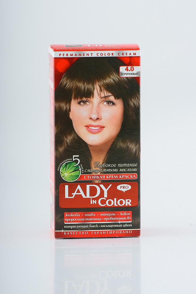 Lady in color фарба для волосся №4.0 Коричнева