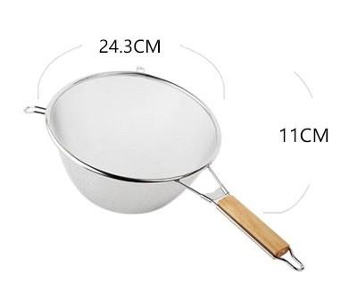 Дуршлаг-сито усиленный с деревянной ручкой 25 см арт. 840-1102013