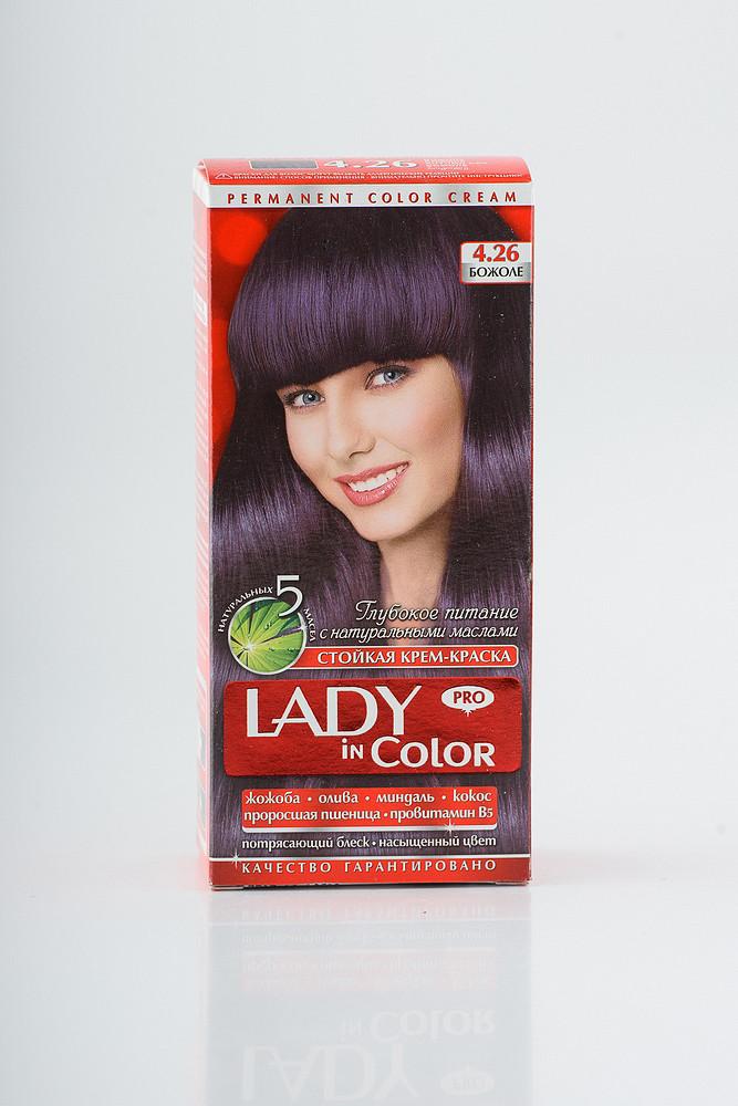 Lady in color фарба для волосся №4.26 Божоле
