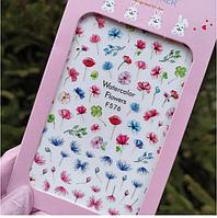 Слайдер дизайн, наклейки для ногтей цветы F №576 Nail Stikers