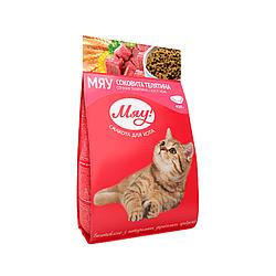Корм Мяу повнорацiонний з соковитою телятиною для дорослих котів 300 г