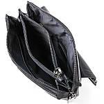 Сумка планшет мужская кожаная через плечо BRETTON черная (06-139), фото 3