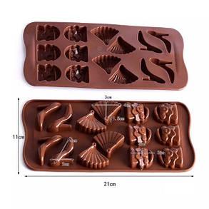 """Силіконова форма для цукерок """"Аксесуари"""" арт. 870-234102, фото 2"""