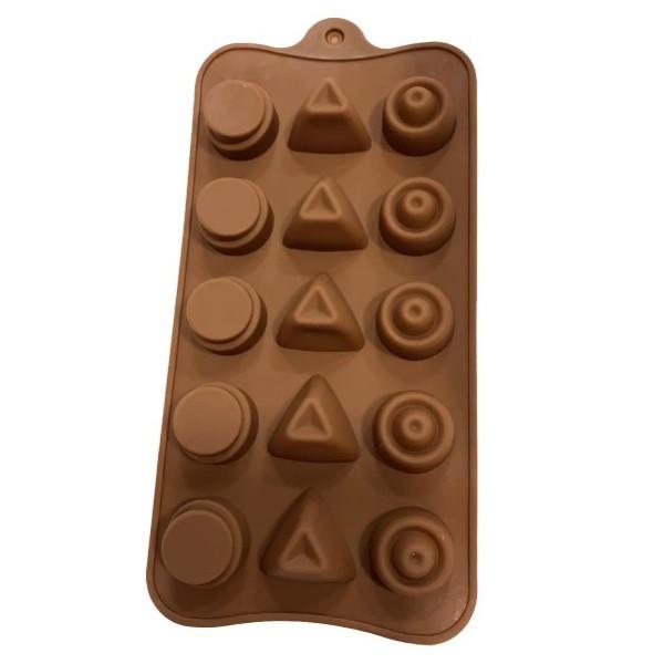 """Силиконовая форма для конфет """"Ассорти"""" арт. 870-234068"""