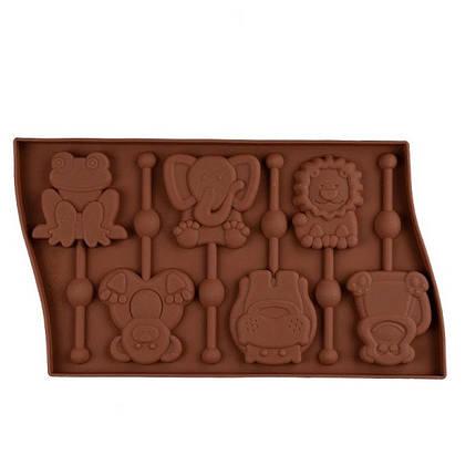 """Силіконова форма для цукерок """"Звірята"""" арт. 870-234094, фото 2"""