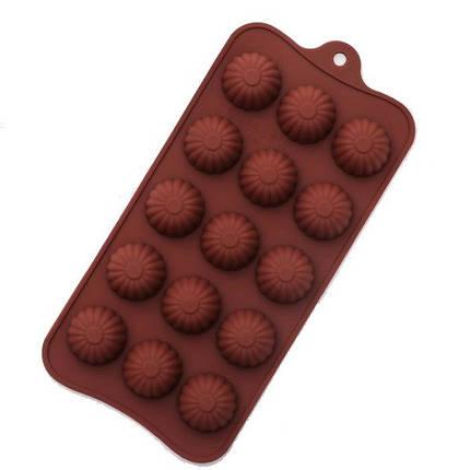 """Силиконовая форма для конфет """"Кексик"""" арт. 870-234085, фото 2"""
