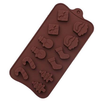"""Силиконовая форма для конфет """"Новогодняя"""" арт. 870-234076, фото 2"""
