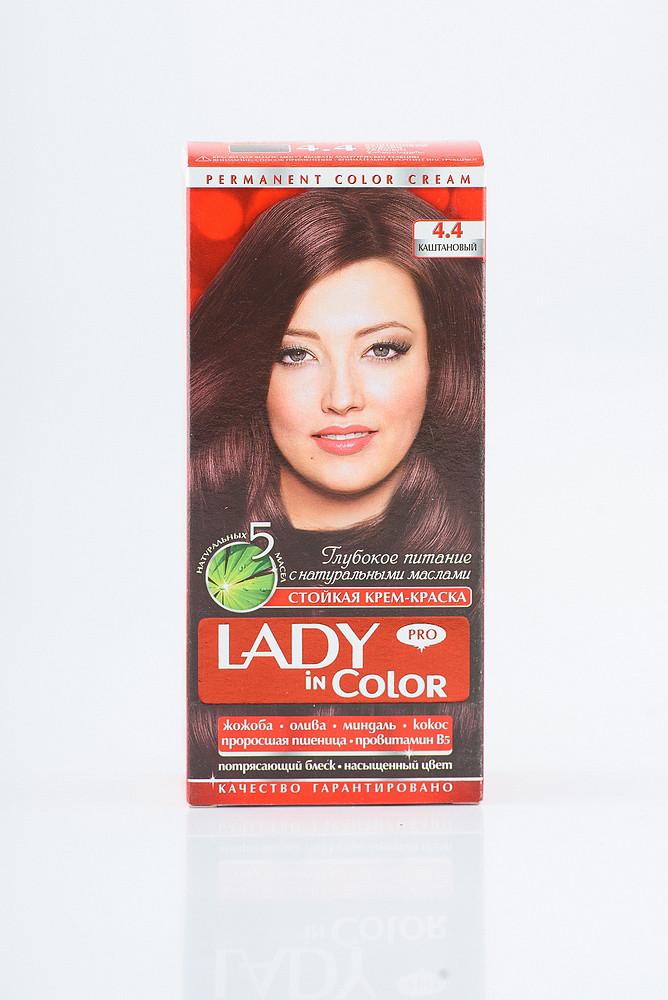 Lady in color фарба для волосся №4.4 Каштанова