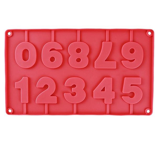 """Силиконовая форма для конфет """"Цифры"""" арт. 870-234042"""