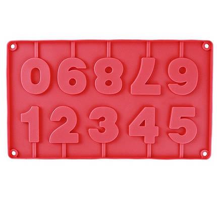 """Силиконовая форма для конфет """"Цифры"""" арт. 870-234042, фото 2"""