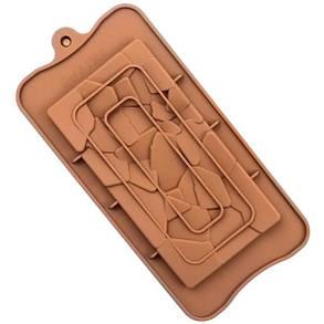 """Силіконова форма для шоколаду """"Бите скло"""" арт. 870-234089, фото 2"""