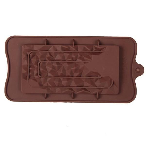 """Силиконовая форма для шоколада """"Кристалы"""" арт. 870-234091"""