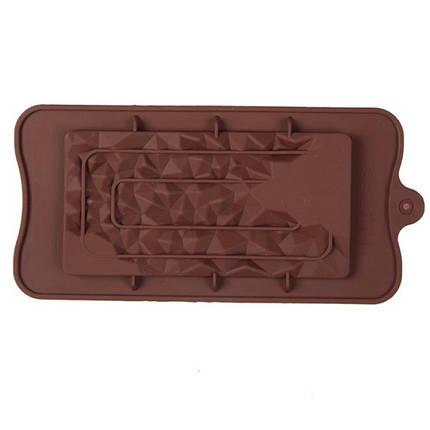"""Силіконова форма для шоколаду """"Кристал"""" арт. 870-234091, фото 2"""