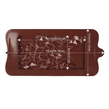 """Силиконовая форма для шоколада """"Кристалы"""" арт. 870-234091, фото 2"""