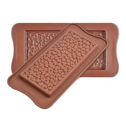 "Силиконовая форма для шоколада ""Сердечки"" арт. 870-234046, фото 2"