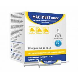 Шприц-туба Мастивет плюс для лікування маститу для ВРХ та ДРХ 10 мл 1 шт