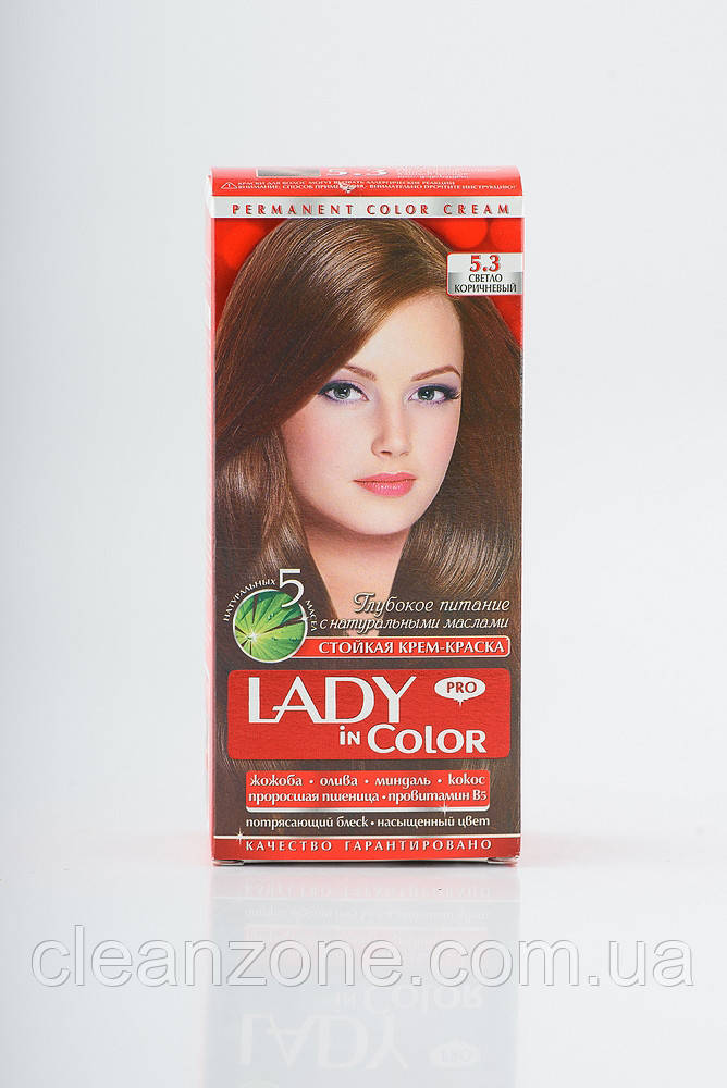 Lady in color фарба для волосся №5.3 Світло-коричнева