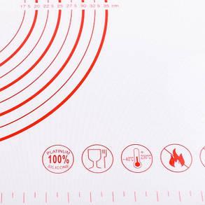 Силіконовий армований килимок (50х60 см) арт. 860-5060AR, фото 2