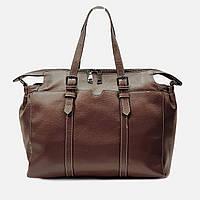 Модная женская коричневая сумочка кожаная 6658