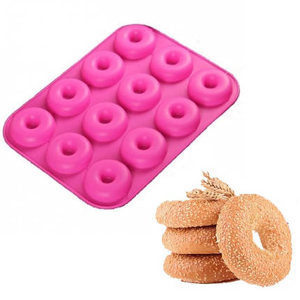 """Силіконова форма для випічки """"Пончик"""" арт. 860-101110097, фото 2"""