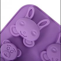 """Силиконовая форма для выпечки """"Зайчик. Мишка, Бабочка"""" YH-161 арт. 822-15A-1, фото 3"""
