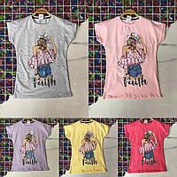 Подростковая футболка FAITH для девочек 8-14 лет,цвет уточняйте при заказе, фото 1